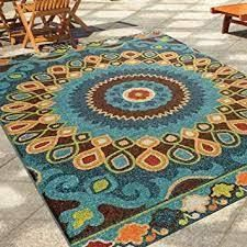 The Curated Nomad Pacheco Indoor  Outdoor Retro Area Rug  Retail 260 99