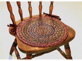 Rhody Rug Sophia 4 piece Braided Reversible Chair Pad Set