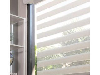 Chicology Basic Natural Cordless Cut to Width light Filtering Dual layer Zebra Roller Shade
