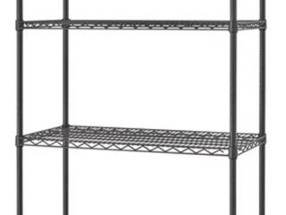 4 Shelf Adjustable Metal Racking