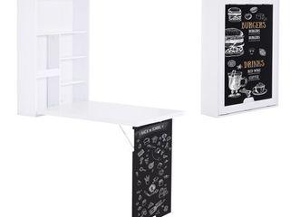 HomCom Wall Mounted Foldable Desk
