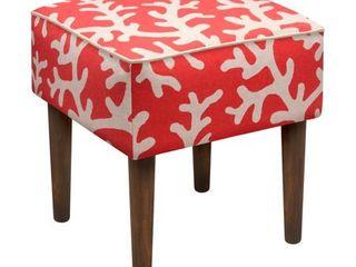 Foam linen Wood Upholstered Modern Stool