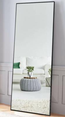 Carson Carrington Salsnas Metal Frame Rectangular Floor Mirror