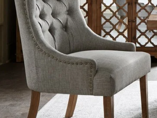 Classic Upholstered Accent Dining Chairs   Set of 2
