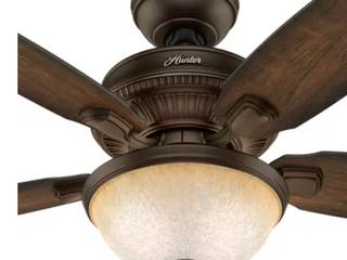 Hunter Millbrook Indoor Ceiling Fan w  lED light Kit   Pull Chain