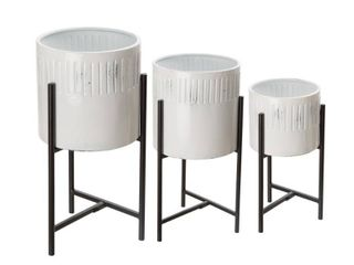 Glitzhome Metal Plant Stands   Set of 3