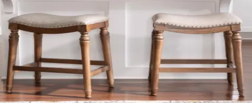 Copper Grove Barmstedt Counter Stools w  Saddle Seating   Set of 2