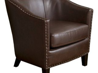 Austin Bonded leather Club Chair by Christopher Knight Home