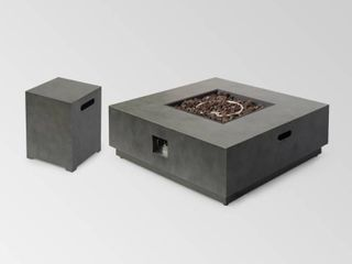 Wellington Outdoor Square Fire Pit Tank Holder by Christopher Knight Home