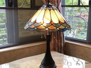 Tiffany Style 2 light Antique Table lamp