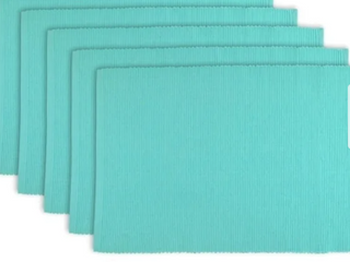 Design Imports Ribbed Kitchen Placement Mats   Set of 6