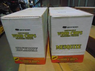 2  12 PIECE CASES OF DISPOSABlE WOOD CHIP SMOKER TRAYS