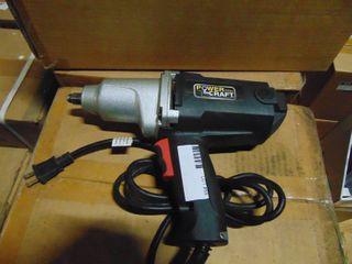 NEW POWERCRAFT 1 2  DRIVE ElECTRIC IMPACT WRENCH