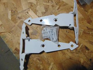 6  WHITE HEAVY DUTY SPRING TEE HINGES