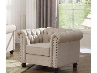 Backrest only  Best Master Furniture Tufted Upholstered Chair backrest only