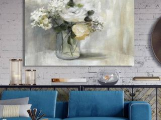 Summer Nuance  Premium Gallery Wrapped Canvas 32x48  1 rose print canvas  1 birch canvas