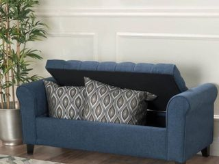 Keiko Contemporary Rolled Arm Fabric Storage Ottoman Bench by Christopher Knight Home Retail 216 49