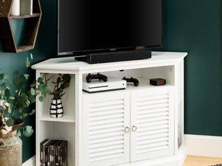 Newport louvered Door Corner TV Stand by Birch Harbor