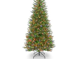 6 5 ft Dunhill fir slim tree with multi color lights
