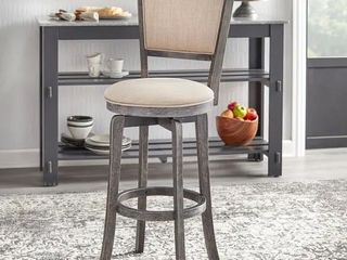 Simple living French Country 30 inch Swivel Bar Stool   Weathered Grey