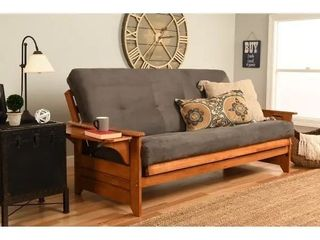 Copper Grove Dixie Honey Oak Full size Wood Futon Frame with Innerspring  arms only