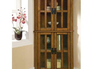 Coaster Company Warm Brown Oak 4 shelf Corner Curio Cabinet Retail 259 49