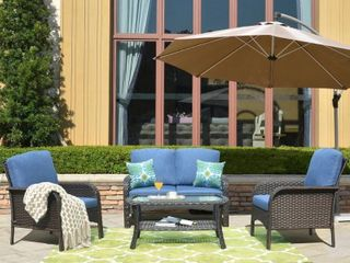 Ovios Water Resistant Wicker Deep Seating Outdoor set of 2 armchairs  box 2 of 2