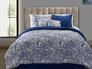 Valentina Flowers and Doodles 5 piece Comforter Set Retail 117 17