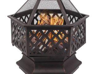 22  Shaped Iron Brazier Wood Burning Fire Pit Decoration for Backyard Retail 264 49