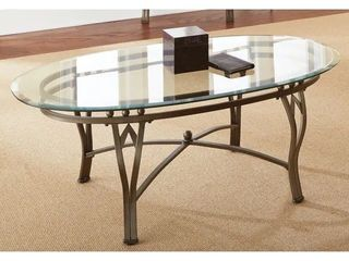 Copper Grove Woodend Glass top Oval Coffee Table Retail 174 99  tabletop only  missing legs  hardware