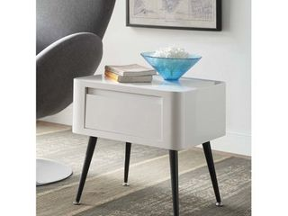Black and White Mid century Modern Short Side Table Retail 179 49  Table   legs only  Missing hardware
