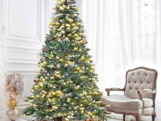 Suncrown 7FT Pre lit Artificial Full Spruce lED Christmas Tree Retail 142 99