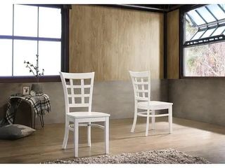 The Simple living Sienna Dining Chair  Set of 2  Retail 116 49  1 set of legs is missing
