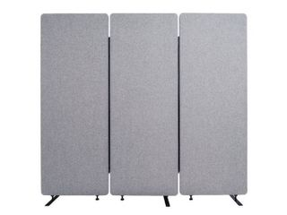 REClAIM Acoustic Room Dividers   3 Pack in Misty Gray