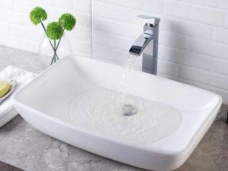 Modern White Porcelain Ceramic Rectangle Above Vanity Sink Retail 85 99