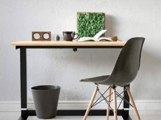 CAXXA Sit Stand Adjustable Height Desk Electric for Home Office  Urban Teak Tabletop  48  x 24