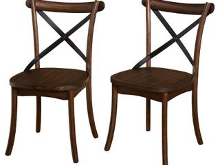 Simple living Constance X Back Dining Chairs  Set of 2  Retail 152 99