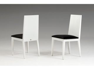 Each chair has damage to 1 leg  A X Bridget White And Black Dining Chair  Set of 2  Retail 519 99