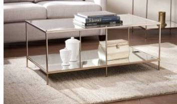 Glam Gold Metal Coffee Cocktail Table Retail 185 99