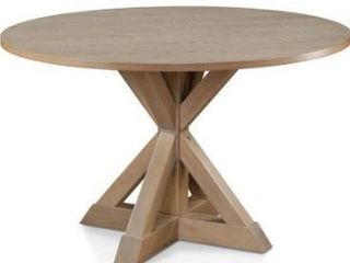 The Gray Barn Buffalo Way Rustic Beige Round Dining Table Retail 329 99