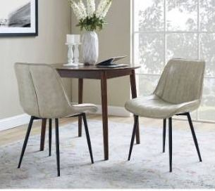 Carson Carrington Kalixfors Modern Upholstered Dining Chairs  Set of 2  Retail 165 99