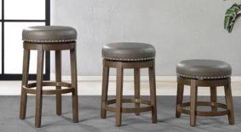 18a Michigan round swivel stool set of 2