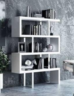 Modrest maze white high gloss bookcase Retail   723