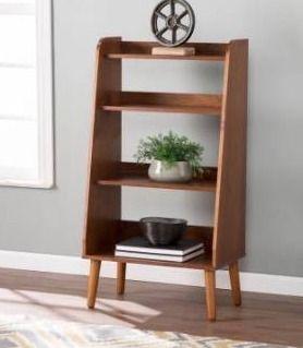 Carson Carrington Barrencroft Mid century Modern Wood Bookcase Retail 216 99