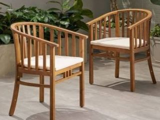 Alondra outdoor wooden dining chairs