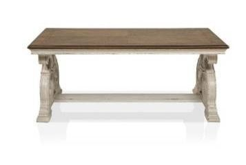 Furniture of America Roah Transitional Dark Oak Wood Coffee Table Retail 502 99