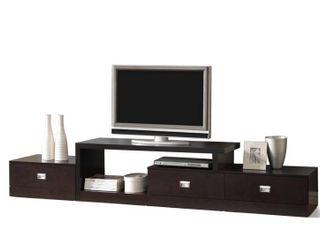 BOX 2 of 2 Wholesale Interiors FTV 4125 CTN2 Baxton Studio Marconi Brown Asymmetrical Modern TV Stand