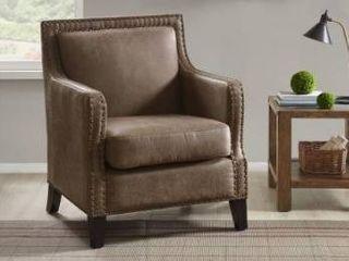Copper Grove Kucove Brown Faux leather Accent Chair Retail 369 49
