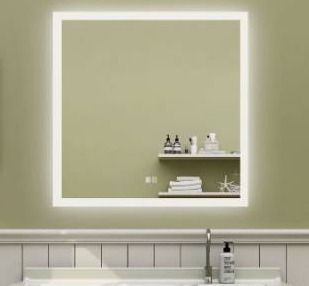 36 x 36 inch Anti Fog lED Bathroom Mirror backlit Dimmable Slim Waterproof IP44 Both Vertical and Horizontal Wall Mounted Way Retail 329 99