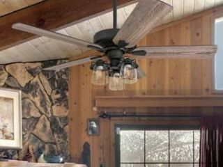 The Gray Barn Stormy Grain Aged Bronze 52 inch lED Ceiling Fan with Remote Retail 149 99